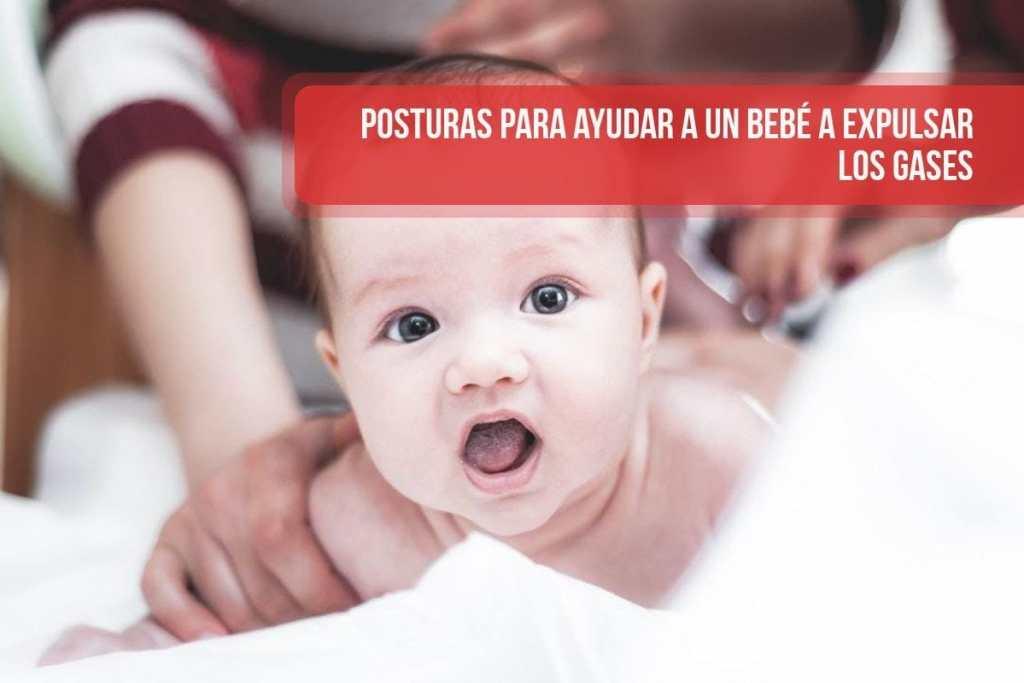 Posturas para ayudar a un bebé a expulsar los gases