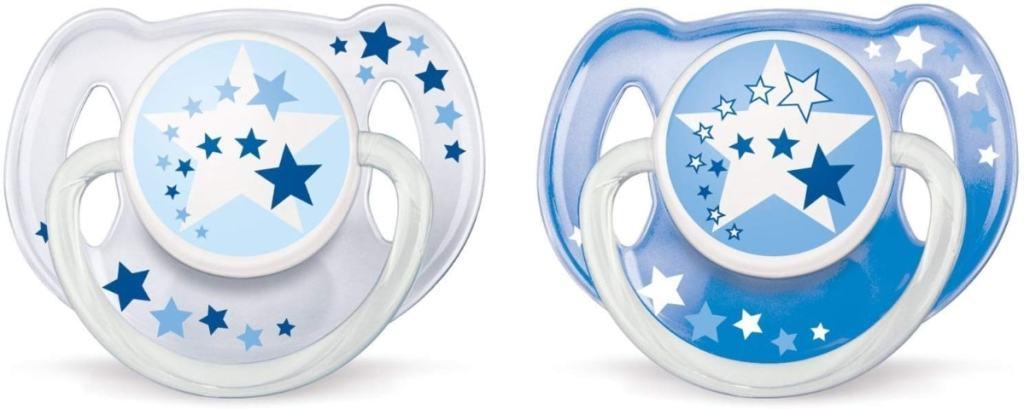 Philips Avent SCF176/22 - Set de 2 chupetes nocturnos sin BPA, 6-18 meses, niño, brilla en la oscuridad