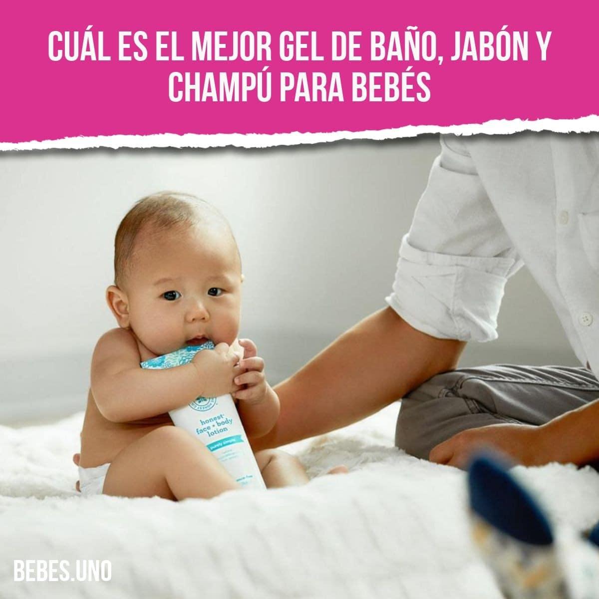 Cuál es el mejor gel de baño, jabón y champú para bebés en 2020