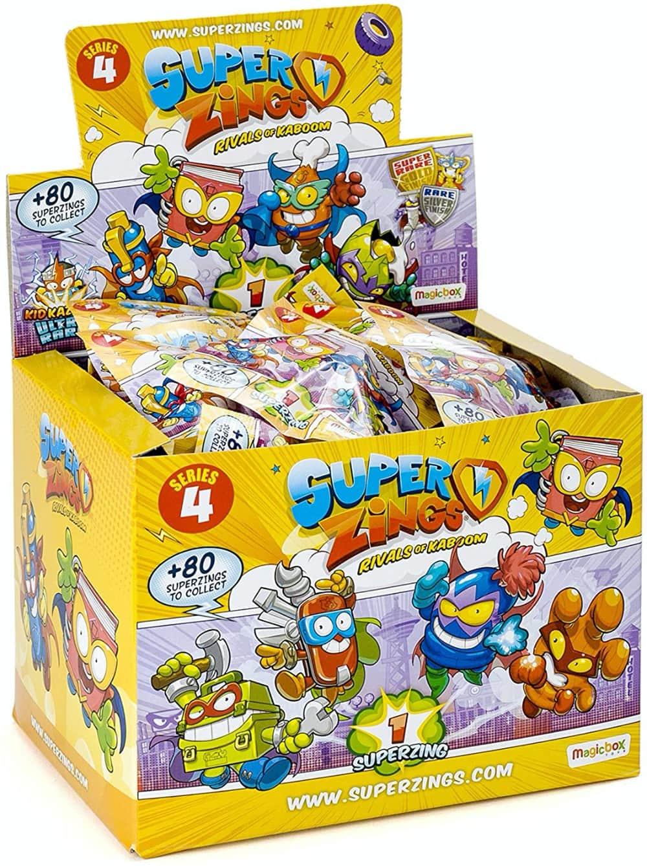 Superzings - Serie 4 - Display de 50 figuras coleccionables SuperZings