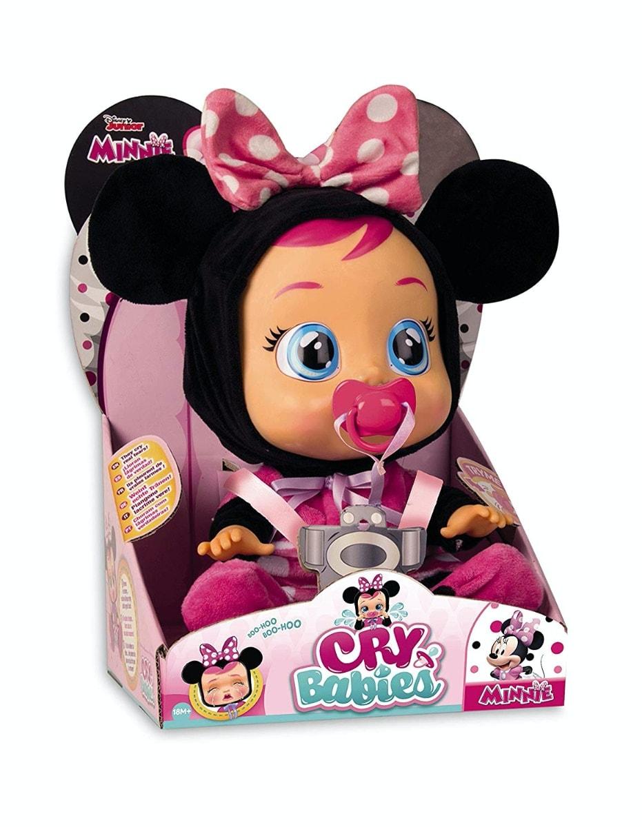 IMC Toys Muñeca Bebés Llorones, Minnie