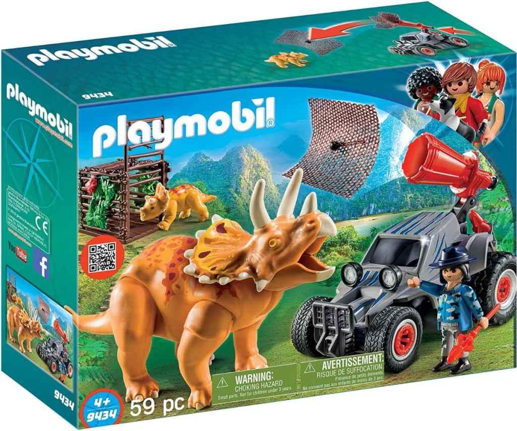 PLAYMOBIL - Dinos Coche con Triceratops