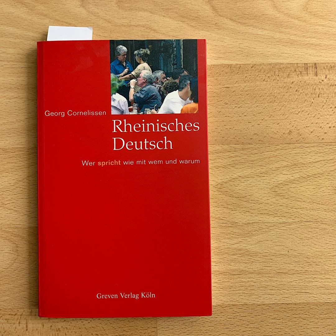 Buch Rheinisches Deutsch