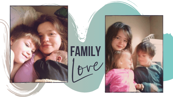 photo collage of samantha mazade and her children