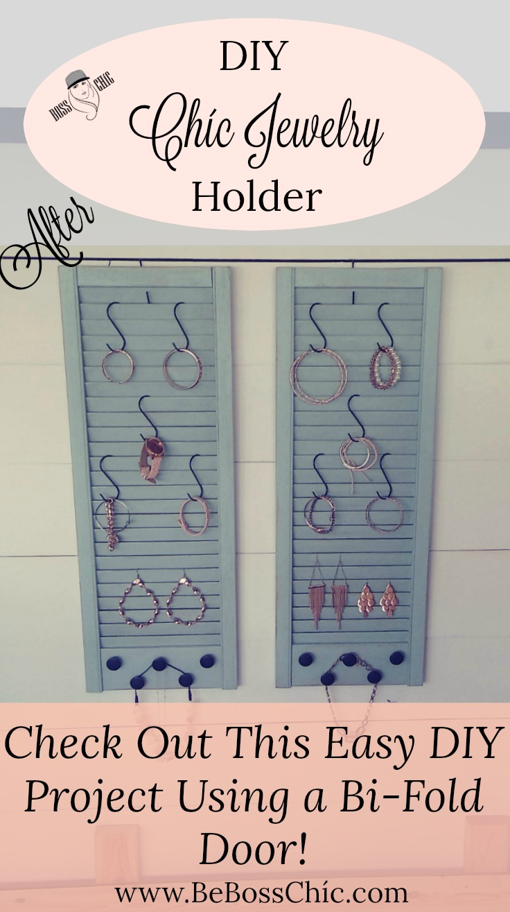 Upcycle A Louver BiFold Door Into A Chc Jewelry HolderOrganizer