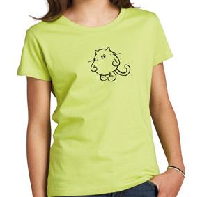 CHERRY kids camiseta niña, cuello redondo