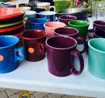 garage sale fiesta ware