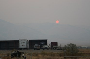 The smoke from the Montana wildfires