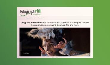 elegraph Hill Festival website screenshot