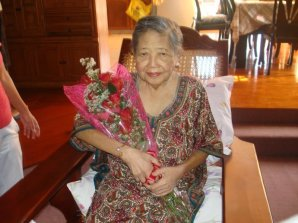 Mom on her 81st birthday - New Year's Eve passed away on Feb. 15th