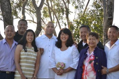 Celebrating a 25th wedding anniversary of Rachel