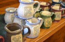 Shakers' ceramic coffee mugs