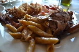 Pastra bruno, prime rib and more shrimps and calamari again