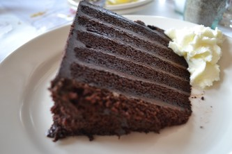 We all shared the chocolate cake - way too decadent and to die for