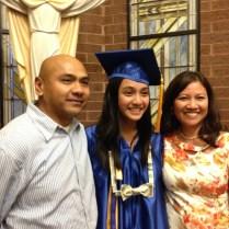 M with proud parents