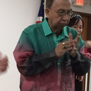 A festive barong - Filipino national outfit