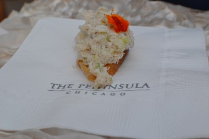 crab meat bruschetta