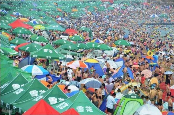Tłum na plaży