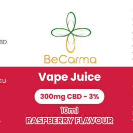 raspberry 300mg vape juice label