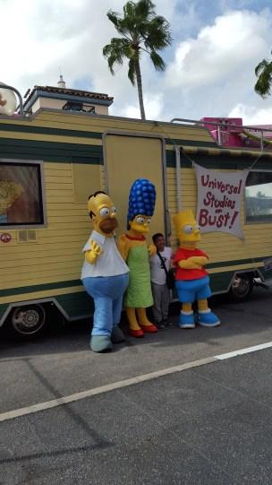 The Simpsons at Universal Studios Theme Park in Orlando, Florida, USA.