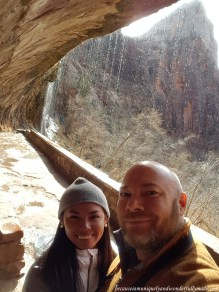 The Weeping Rock at Zion National Park is famous for the streams of water due to a constant water flow from the canyons above.