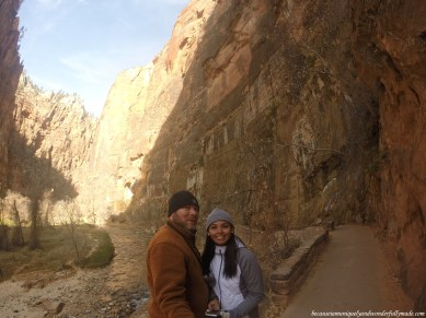 At the Riverside Walk, also known as the Gateway to the Narrows, at Zion National Park in Utah.