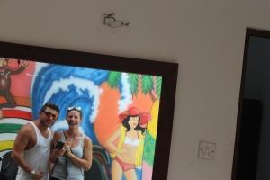 Hostel mirror selfie