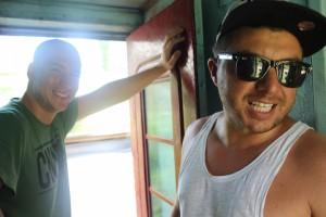 Train to Unawatuna, Hakan and Chris