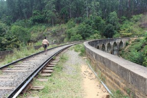 rails over the nine arch bridge