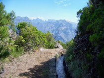 The high peaks of Madeira from the Levada de Serra