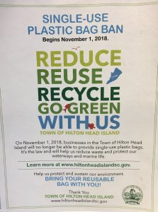 Plastic bag ban ordinance in Hilton Head