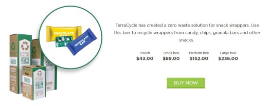 Terracycle candy and snack wrapper zero waste boxes