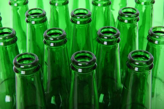 Green glass bottles, photo by PublicDomainPictures on Pixabay