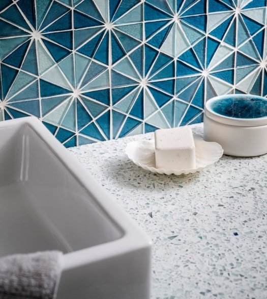 Vetrazzo Recycled Glass Mosaic Tiles For Backsplash – Jerusalem House