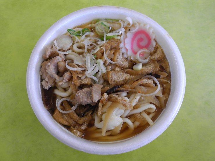 Soup in Styrofoam bowl
