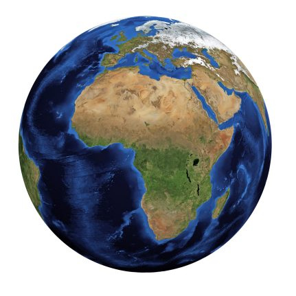 Image of Earth, Africa front facing