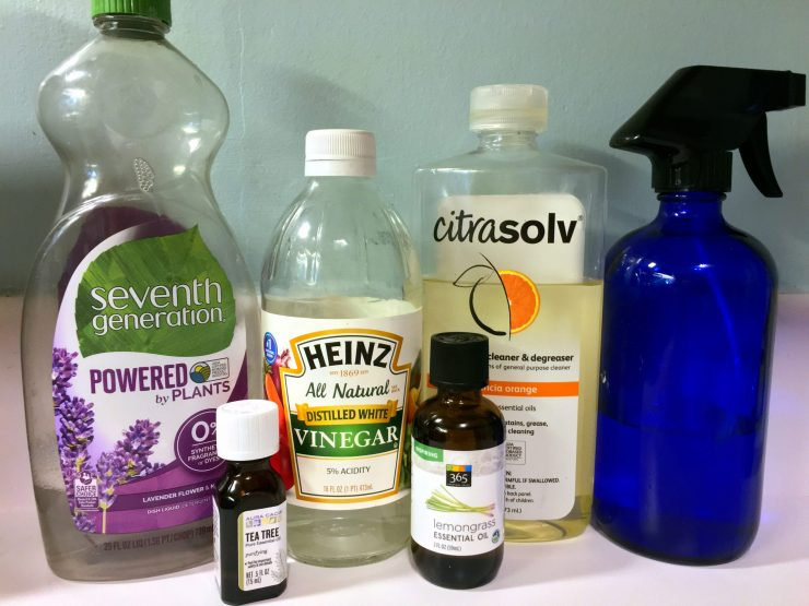 Ingredients for making homemade cleaner