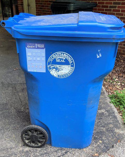 City of Chattanooga 96 gallon blue bin