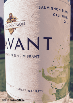 2013 Avant Sauvignon Blanc, Kendall-Jackson Vineyards, Santa Rosa, California, USA.