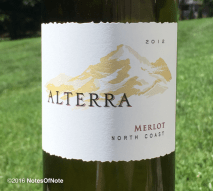 2012 Alterra Merlot, North Coast, Santa Rosa, California, USA.