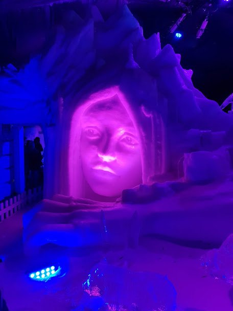 Ice sculpture in Ice Kingdom