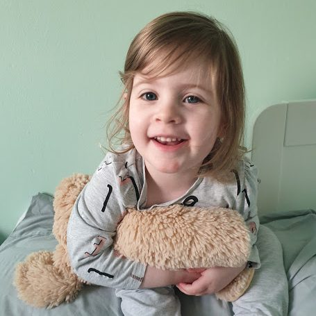 3 year old girl with Dream Pillow