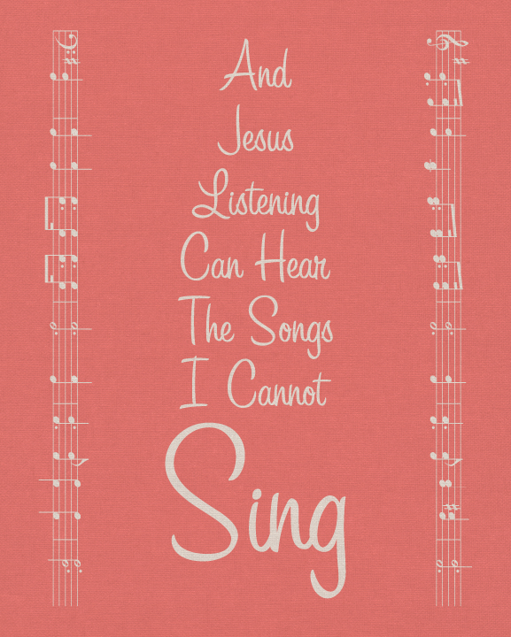 The Songs I Cannot Sing in Pink | BeccaBug.com