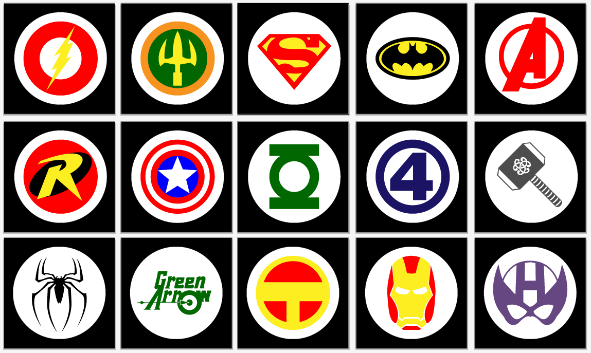 graphic regarding Printable Superhero Logos titled Tremendous Hero Wall Posters