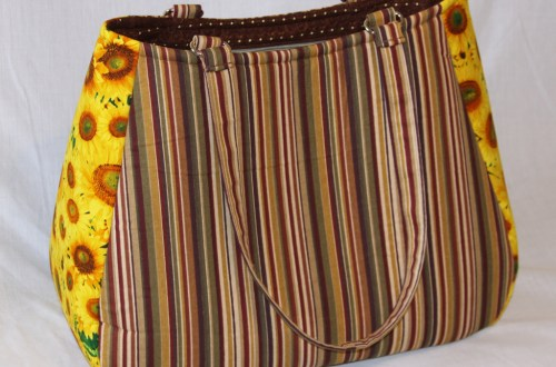Denise - Sunflower and Stripes Tote Bag - Swoon Ethel XL | Beccabug.com