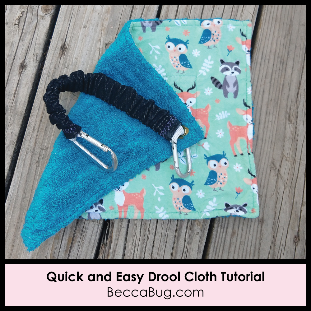 Drool Cloth Sewing Tutorial | BeccaBug.com