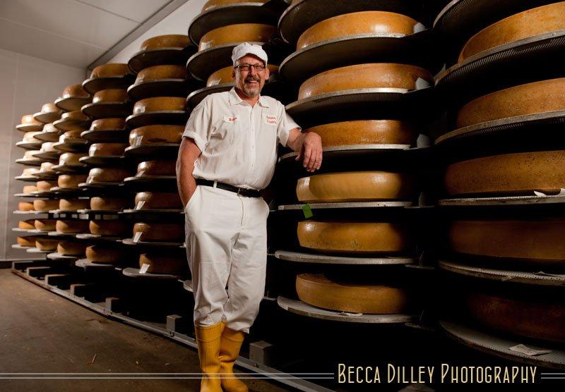 Bruce Workman Wisconsin artisan cheesemakers editorial portraits