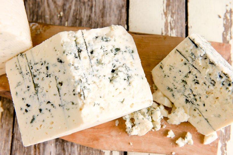 Big Woods Blue cheese from Shephards Way Farm Minnesota editorial photographer