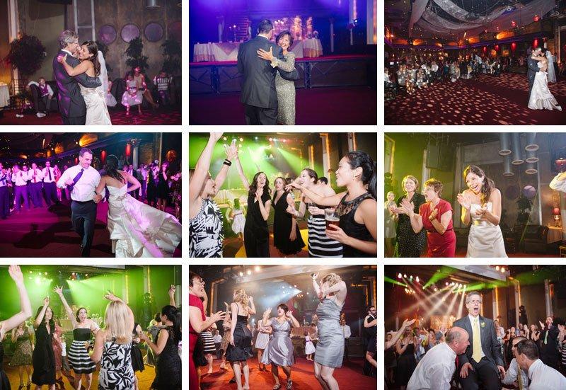 dancing during wedding at varsity theater wedding minneapolis