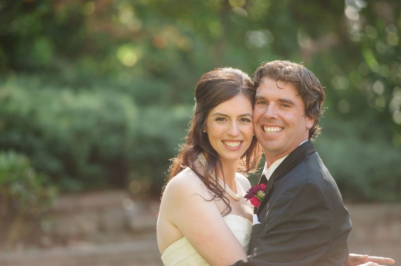 minneapolis wedding photographer bride and groom in bride's backyard